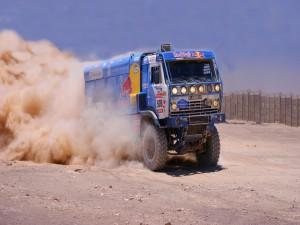 Postal: Camión Kamaz en el Rally Dakar