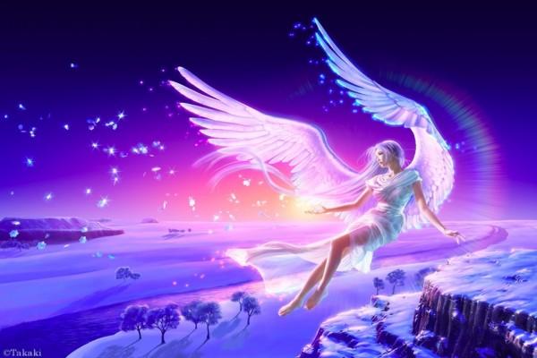 Delicado ángel de fantasía