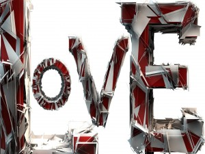 Postal: Amor en 3D
