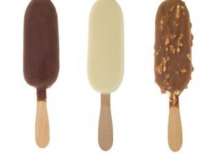 Postal: Helados recubiertos de chocolate