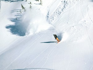 Haciendo snowboard en Brighton Ski Resort (Utah, USA)