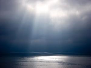 Postal: El mar en calma