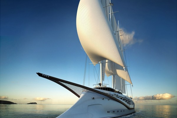 Moderno yate de vela fenicio
