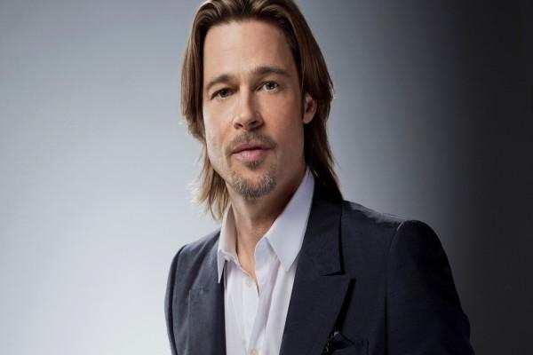 El actor y productor de cine estadounidense Brad Pitt