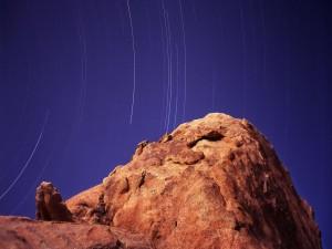 Movimiento de las estrellas durante la noche