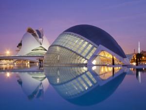 L'Hemisfèric en la Ciudad de las Artes y las Ciencias (Valencia, España)