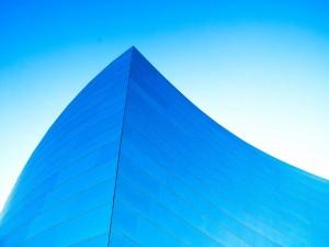 Postal: Edificio azul