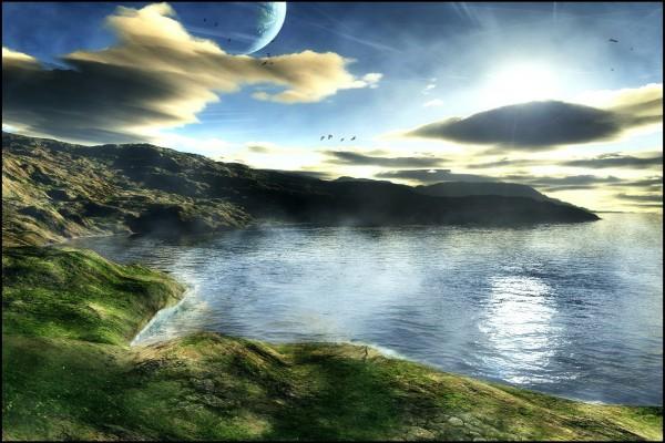 Paisaje natural de otro planeta