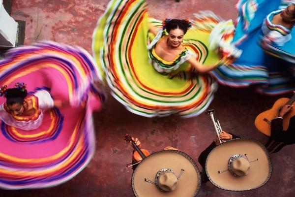 Baile regional mexicano, en Yucatán, México