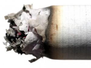 La ceniza de un cigarrillo