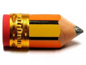 Postal: Un lápiz diminuto
