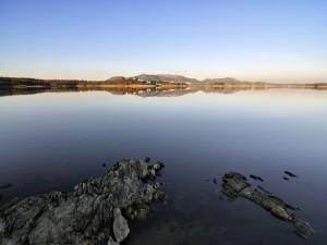 Embalse de Orellana (o Pantano de Orellana), en Badajoz, España