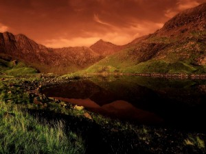 Postal: Monte Snowdon, Gales, Reino Unido