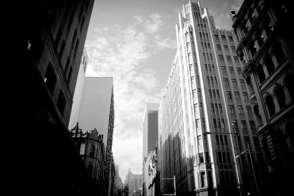 Un día gris en la ciudad