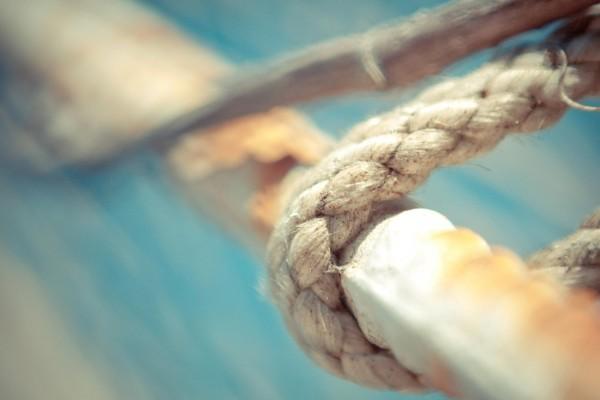 Una cuerda de cáñamo resistente