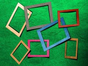 Rectángulos de diferentes colores y tamaños