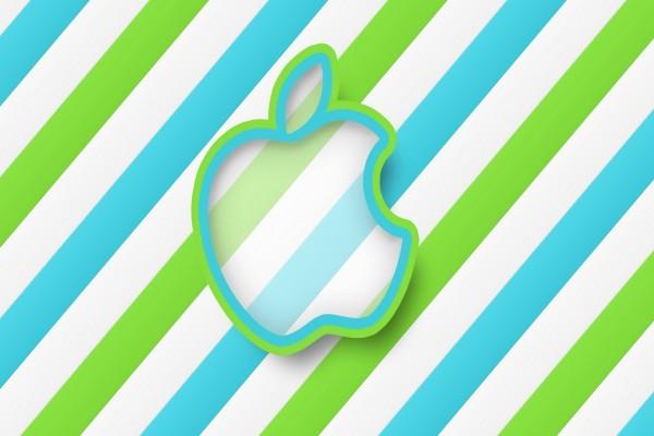 Logo de Apple, en colores azul y verde