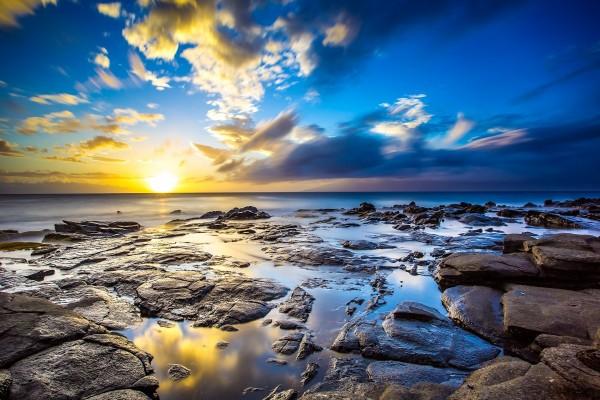 Puesta del sol en Kapalua, Maui, Hawái