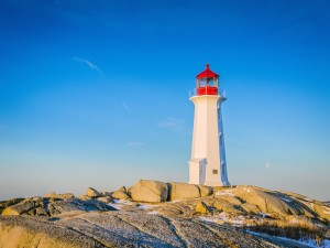 Postal: Faro de Peggys Cove, Nueva Escocia