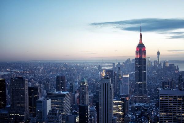 """Vista desde el """"Top of the Rock"""", Rockefeller Center, ciudad de Nueva York"""