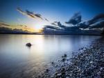 Una playa en Lincoln Park, West Seattle, Washington