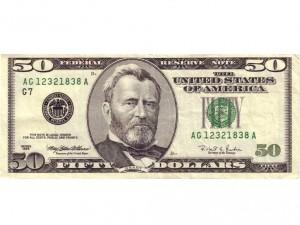 Postal: 50 dólares estadounidenses