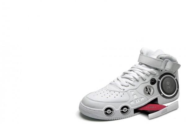 Zapatillas de deporte con reproductor de CD