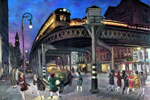 Sixth Avenue Elevated at Third Street, 1928, de John Sloan