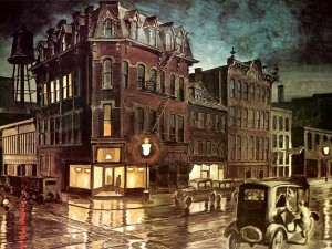 Rainy Night, por Charles Burchfield