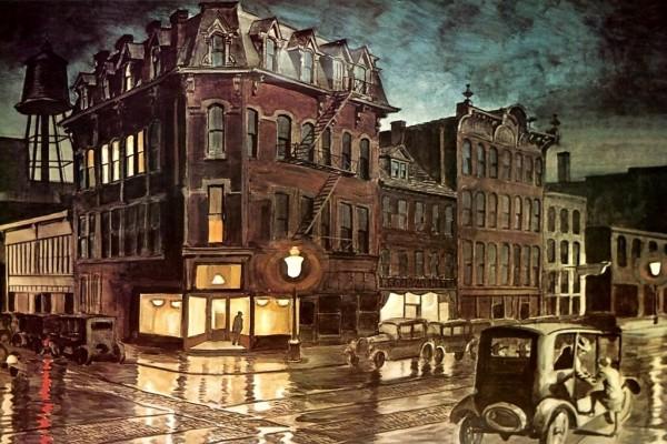 Rainy Night, por Charles Burchfield