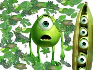 Mike Wazowski (Monsters, Inc.) ¿es un guisante?