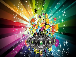 Postal: Música y fiesta