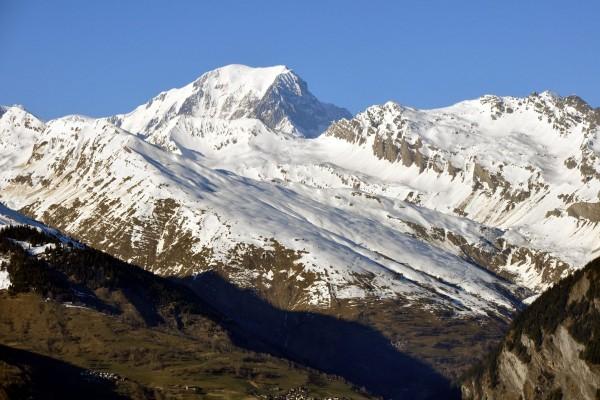 El Mont Blanc visto desde Montchavin, Les Coches, Francia