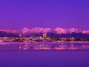 Atardecer en Anchorage, Alaska