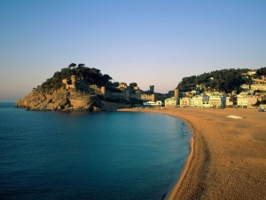 Postal: Playa en Tossa de Mar, Gerona, España