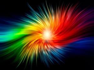 Postal: Diseño abstracto multicolor