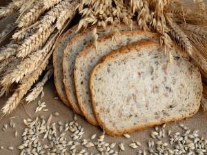 Rebanadas de pan con trigo y avena