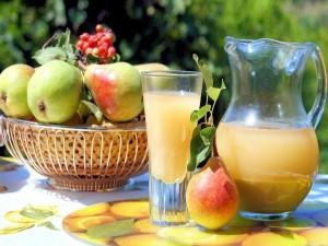 Jugo de pera, refrescante y delicioso