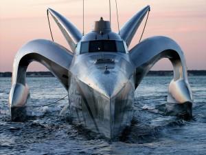 Postal: Earthrace, el barco (trimarán) ecológico más rápido del mundo