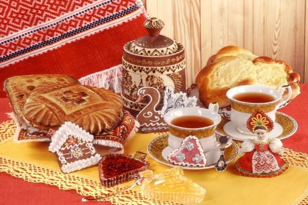 Té y dulces típicos rusos