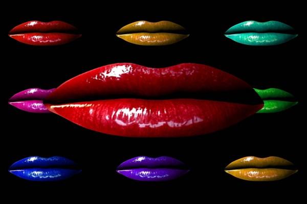 Labios de diferentes colores