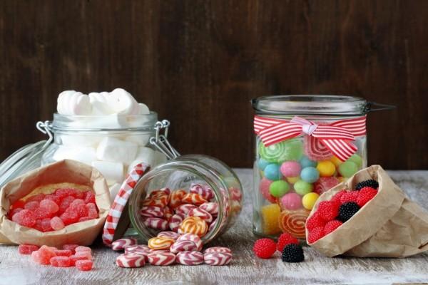 Caramelos, malvaviscos y gomitas (o gominolas)