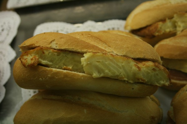 Bocatas de tortilla de patatas