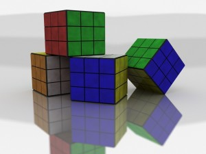 Postal: Cubos de Rubik