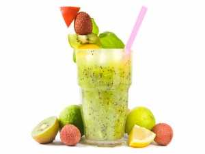 Postal: Zumo de kiwi y otras frutas