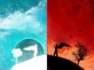 Postal: El Cielo y el Infierno