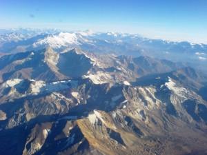 La cordillera de los Andes a vista de pájaro