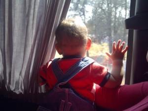 Postal: Bebé explorando el mundo
