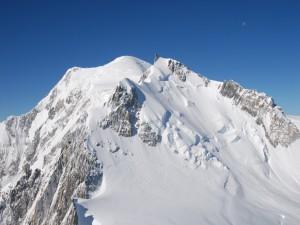 Postal: El Mont Blanc en los Alpes
