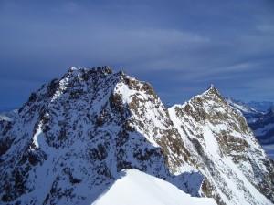 Postal: Pico Dufour, en los Alpes Peninos
